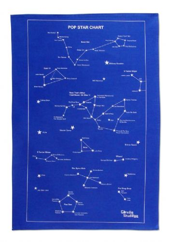 Pop Star Chart Tea Towel